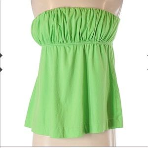 Lilly Pulitzer green strapless top. Sz M